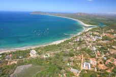 """Aerial view of Tamarindo and Playa Grande Costa Rica"""